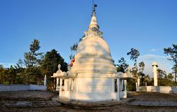 Buddhist hill temple, Sri Lanka Royalty Free Stock Photo