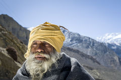 Buddhist in the Himalaya mountains Royalty Free Stock Photos