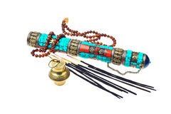Buddhist or hindu accessories for meditation Stock Photography