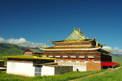 The Buddhist historic building in ARou temple Royalty Free Stock Photo