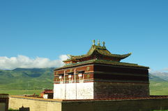 The Buddhist historic building in ARou temple Stock Image
