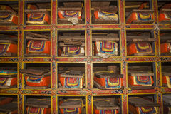 Buddhist holy book in a monastery in Pangboche Royalty Free Stock Photography