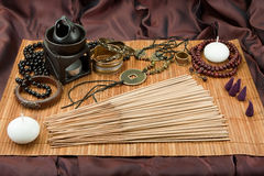 Buddhist incense stock image