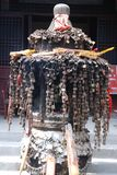 Buddhist incense burner with. In shanxi of china Royalty Free Stock Photography