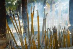 Buddhist Incense sticks Stock Photo