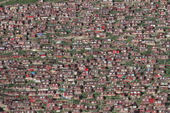 Buddhist Institute Larung Gar. China Royalty Free Stock Photo