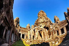 Buddhist khmer temple in Angkor Wat Royalty Free Stock Images