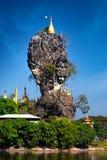 Buddhist Kyauk Kalap Pagoda. Hpa-An, Myanmar (Burma) Royalty Free Stock Image