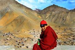 Buddhist lama royalty free stock photo