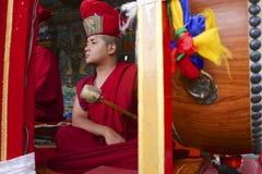 Buddhist lama in a Sikkim monastery Stock Photo