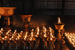 Buddhist Lamps Royalty Free Stock Photos