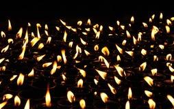 Buddhist Lamps Stock Photography