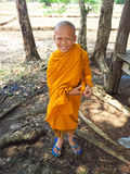 Buddhist little monk Royalty Free Stock Image