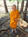 Buddhist little monk Royalty Free Stock Image