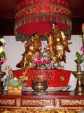 Mahayana Buddhism Chinese Pagoda with Buddha Statue China royalty free stock images