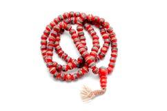 Buddhist Mala Prayer Beads from bone yak. Stock Image