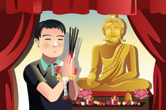 Buddhist man Stock Photos