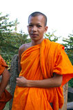 Buddhist man in robes Royalty Free Stock Images