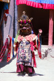 Buddhist mask dancer from Ladakh Royalty Free Stock Photography