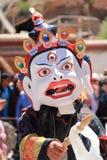 Buddhist mask dancer. Royalty Free Stock Photos