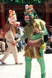 Buddhist mask dancer. Stock Image