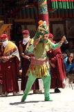 Buddhist mask dancer-10. royalty free stock photography