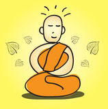 Buddhist Meditation vector illustration Royalty Free Stock Images
