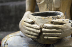 Buddhist merit monk a alms bowl Stock Photo