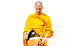 Buddhist merit. monk s alms bowl Stock Photo