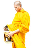 Buddhist merit. monk s alms bowl. Store food Royalty Free Stock Images