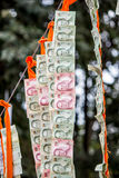 Buddhist merit. Red Roof merit pay based on the beliefs and traditions Stock Photo
