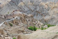 Buddhist monasteries in Ladakh valley Royalty Free Stock Photography
