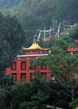 Buddhist Monastery. In Himalayas - India Stock Photo