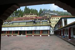 Buddhist Monastery. Rumtek Buddhist Monastery in Gangtok, Sikkim, India, Asia stock photos