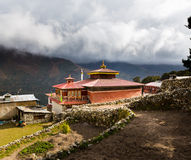Buddhist monastery building, Pangboche village, Nepal. Royalty Free Stock Images