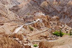 Buddhist monastery buildings in Ladakh Royalty Free Stock Photos