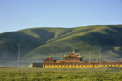 Buddhist monastery in China. Royalty Free Stock Image
