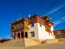 Buddhist monastery at Dege in Sichuan Royalty Free Stock Photo
