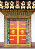 Buddhist monastery door in Nepal Stock Images
