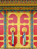 Buddhist monastery door in Nepal Royalty Free Stock Photo