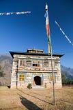 Buddhist monastery or gompa in Kharikhola village Royalty Free Stock Photography