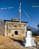 Buddhist monastery or gompa in Kharikhola village Royalty Free Stock Image