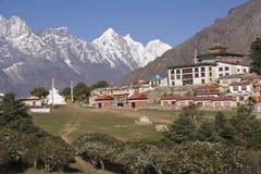 Buddhist Monastery in the Himalayas Stock Photos