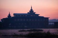 Buddhist monastery on Inle lake, Myanmar Royalty Free Stock Photos