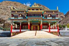 Buddhist monastery in Kaza, Spiti Valley stock photo