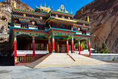 Buddhist monastery in Kaza, Spiti Valley Royalty Free Stock Images