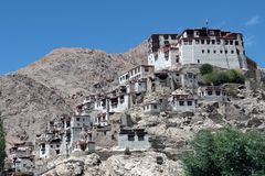 Buddhist monastery in ladakh Stock Image