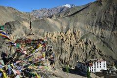 Buddhist monastery in the Lamayuru village in Ladakh in India Stock Photography