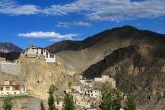 Buddhist monastery in the Lamayuru village in Ladakh in India Royalty Free Stock Photo