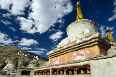 Buddhist monastery in the Lamayuru village in Ladakh in India Royalty Free Stock Images